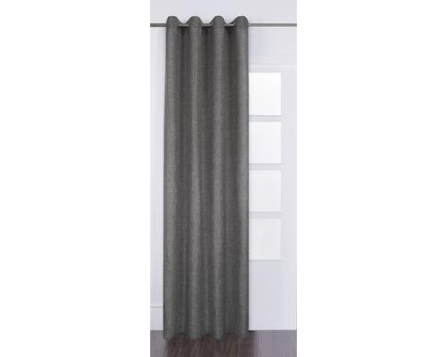 Ösenschal Lino grau 140x280 cm