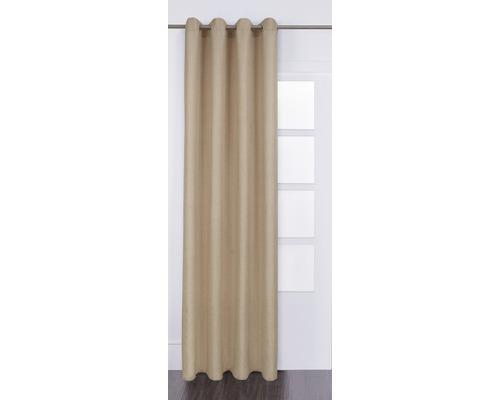 Voilage à œillets Lino beige de 140x280 cm