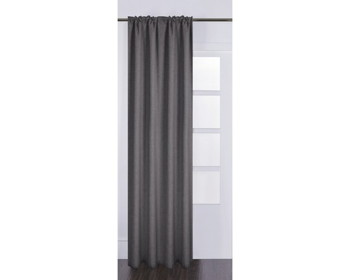 Rideau avec galon fronceur Silk off gris 130x280 cm