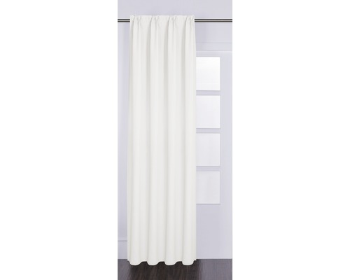Rideau avec galon fronceur Canvas blanc 140x280 cm