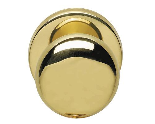 Bouton de porte d''entrée rond fixe Paddenstoel laiton laqué Ø 57 mm 1 pièce