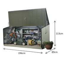 Gerätebox Storeguard 196 x 89 x 109 cm, anthrazit-thumb-2