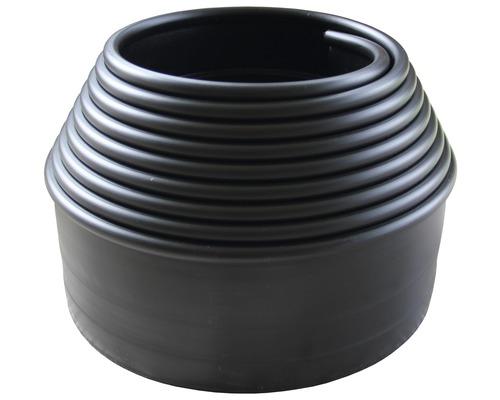 Bordure pour massif 600 x 10 x 1 cm en plastique, noire
