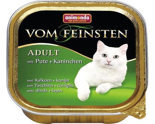Nourriture pour chats humide, animonda d''une qualité des plus fines Adult avec dinde+lapin 100g