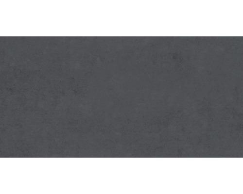 Dalle de sol en grès cérame Fusion 30x60cm anthracite mat