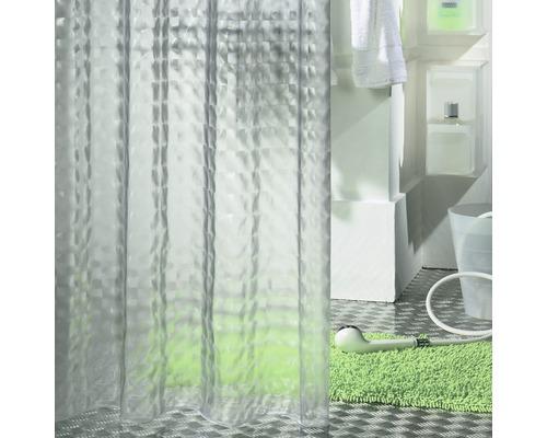 Rideau de douche Prisma 180 x 200cm transparent