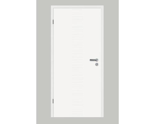 Porte intérieure Pertura Linum 04 laque blanche 86,0x198,5 cm tirant gauche