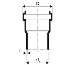 HT Rohr DN 32 L: 2000 mm-thumb-1