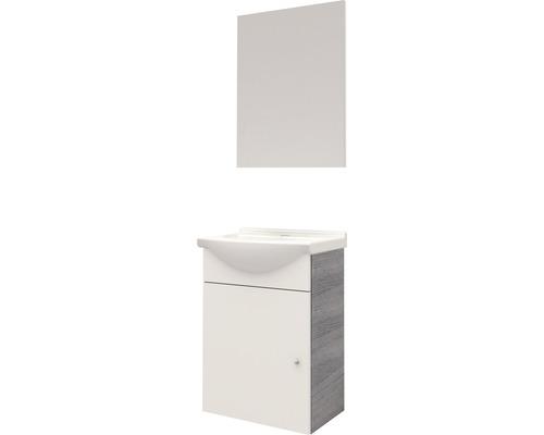 Kit de meubles de salle de bains ENSEMBLE DE MEUBLES NASSAU GRIS/BLANC HAUTE BRILLANCE 120x37cm
