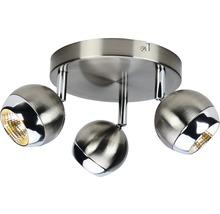 Spot LED FLAIR 3x4W 3x350 lm 2900K blanc chaud Lukida nickel/alu Ø 200mm-thumb-0