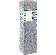 Lampadaire extérieur LED Aran GU5.3/3 W pierre effet blanc-thumb-0