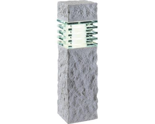 Lampadaire extérieur LED Aran GU5.3/3 W pierre effet blanc-0