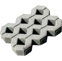 Pflasterstein Rasengitter Beton grau 60 x 40 x 8 cm-thumb-0