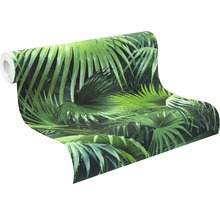Papier peint intissé 524901 Crispy Paper feuilles de palmier, vert-thumb-2
