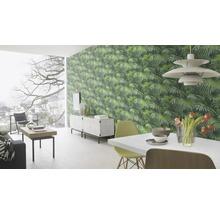 Papier peint intissé 524901 Crispy Paper feuilles de palmier, vert-thumb-3