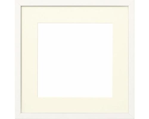 Cadre photo bois blanc 50x50 cm