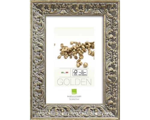 Cadre photo bois GOLDEN argent 10x15cm