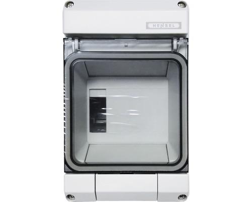 Coffret électrique Hensel 1 rangée 4,5 unités modulaires gris KV9104