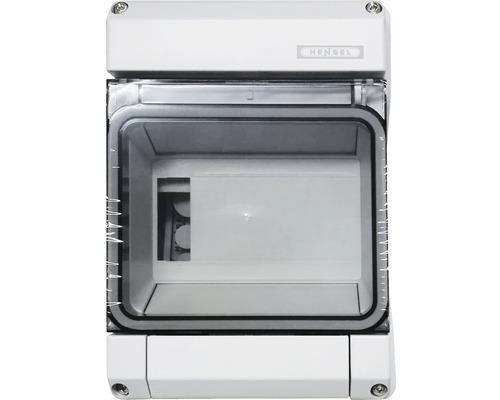 Coffret électrique Hensel 1 rangées 6 unités modulaires gris KV9106