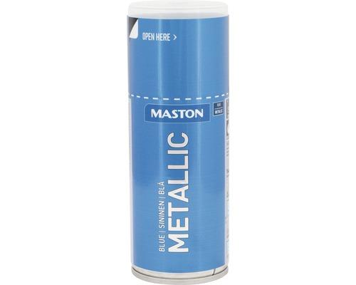 Peinture en bombe aérosol Maston metallic bleu azur 150 ml