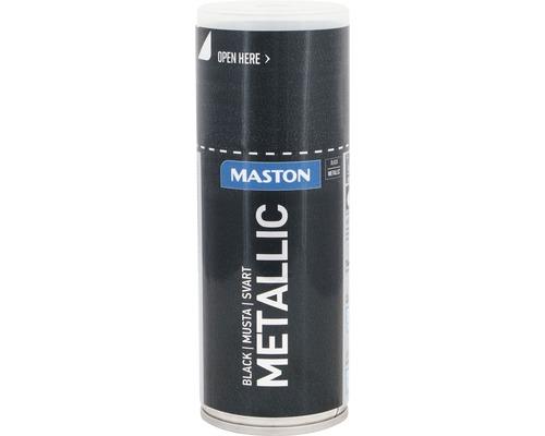 Peinture en bombe aérosol Maston metallic noir 150 ml