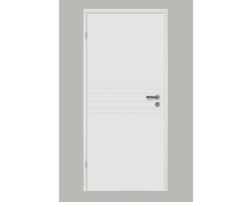 Porte intérieure Pertura Linum 09 laque blanche 86,0x198,5 cm tirant gauche