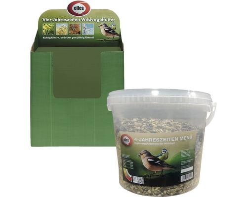 Nourriture pour oiseaux sauvages elles menu 4 saisons seau de 2,5kg