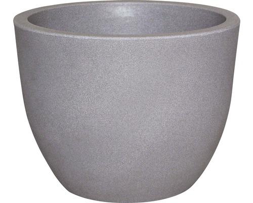 Bac à plantes geli Rimini plastique, Ø60 H45,5cm taupe