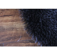 Galette de chaise fourrure synthétique noir Ø 35 cm-thumb-1