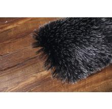 Galette de chaise fourrure synthétique noir Ø 35 cm-thumb-2