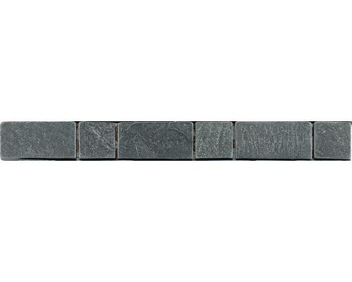 Bordure en pierre naturelle CM-57117, gris, 30,5x3,3 cm