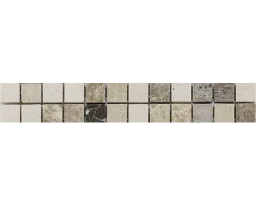 Bordure en pierre naturelle CM-509009 blanc 30x5 cm