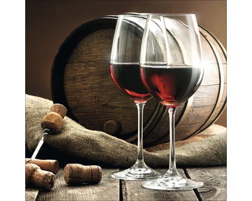 Tableau en verre Red Wine IV 20x20 cm