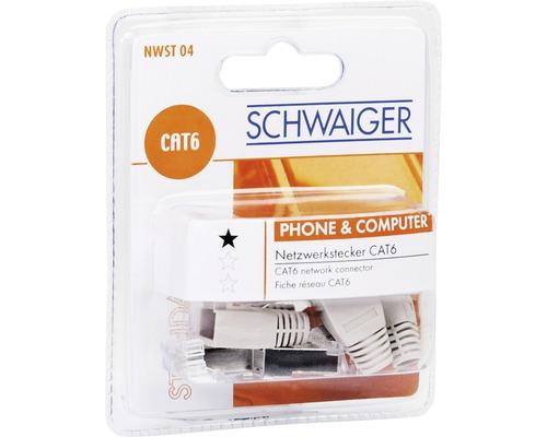 Fiche réseau CAT 6 4 pièces Schwaiger NWST04 531