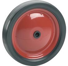 Roulette PVC Tarrox, jusqu''à 20 kg, avec une jante en métal rouge et roue en PVC, 180 x 30 x 12 mm-thumb-0