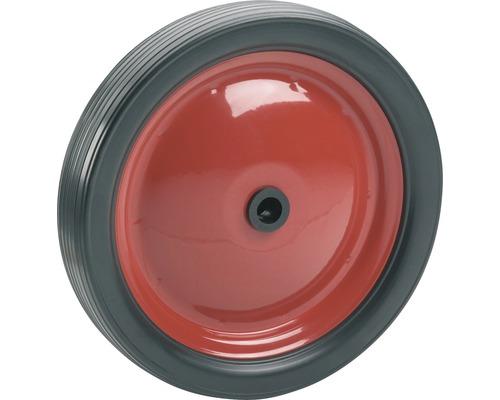 Roulette PVC Tarrox, jusqu'à 20 kg, avec une jante en métal rouge et roue en PVC, 180 x 30 x 12 mm