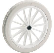 Roulette PVC Tarrox, jusqu''à 25 kg, avec une jante de rayon en plastique blanc et profil rainuré, 185 x 24 x 10 mm-thumb-0