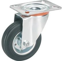 Roulette pivontante pour appareils de transport Tarrox, jusqu''à 50 kg, 80x107x25 mm, plaque 105x85 mm-thumb-0
