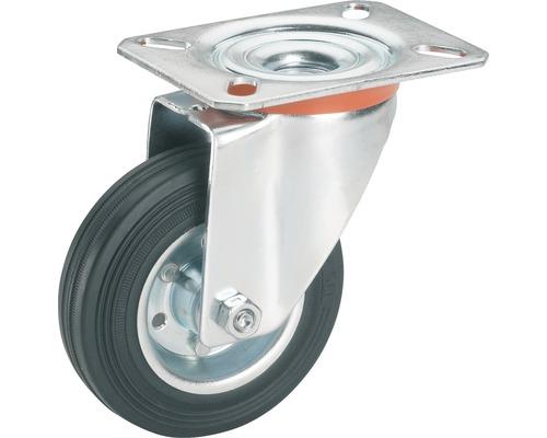 Roulette pivontante pour appareils de transport Tarrox, jusqu'à 100 kg, 125x157x37 mm, plaque 105x85 mm