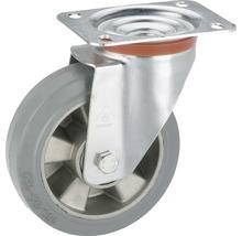 Roulette pivontante pour appareils de transport Tarrox, jusqu''à 300 kg, avec plaque, 160 x 195 x 50 mm-thumb-0