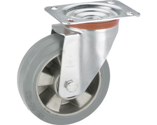Roulette pivontante pour appareils de transport Tarrox, jusqu''à 300 kg, avec plaque, 160 x 195 x 50 mm-0