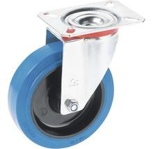 Roulette pivotante pour appareils de transport Tarrox, jusqu''à 150 kg, avec roue élastique, 100x128x36 mm, plaque 105x85 mm-thumb-0