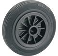Tarrox Standard Vollgummirad, bis 60 kg, mit Kunststofffelge, 100 x 30 x 12 mm