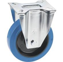 Tarrox Élastique roulette fixe 100 mm plaque 105x85 mm, sans trace bleu-thumb-0