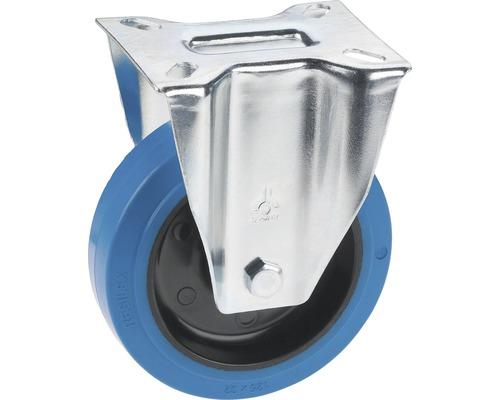Tarrox Élastique roulette fixe 100 mm plaque 105x85 mm, sans trace bleu