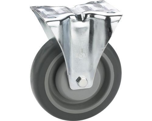 Tarrox TPE-Roulette fixe 100 mm plaque 105x85 mm palier billes
