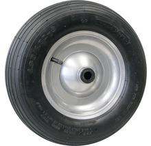 Tarrox Roue gonflable 400 mm, jante acier argent, moyeu 20x88 mm-thumb-0