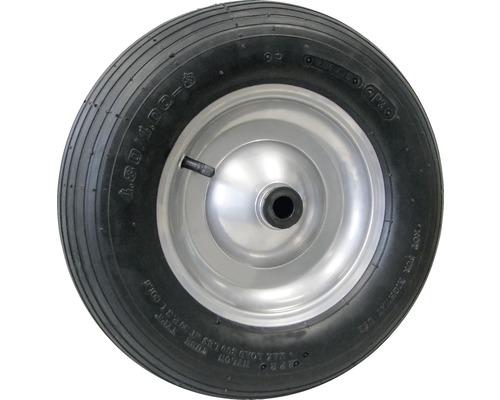 Tarrox Luftrad, bis 200 kg, mit Metallfelge und Blockprofil, 400 mm geeignet für Schubkarren