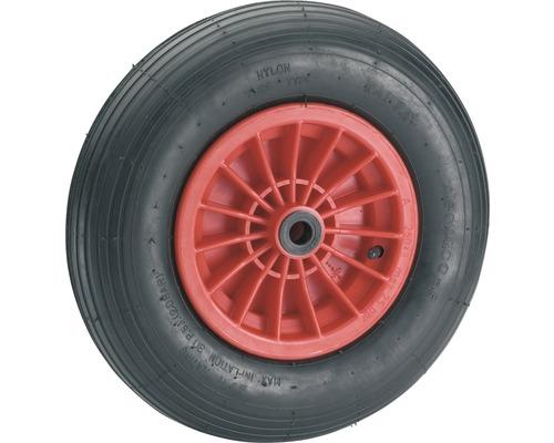 Tarrox Luftrad mit Kunststofffelge und Rillenprofil, 400 mm geeignet für Schubkarre