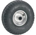 Tarrox Luftrad, bis 200 kg, mit Metallfelge und Blockprofil, 260 mm geeignet für Sackkarren + Bollerwagen